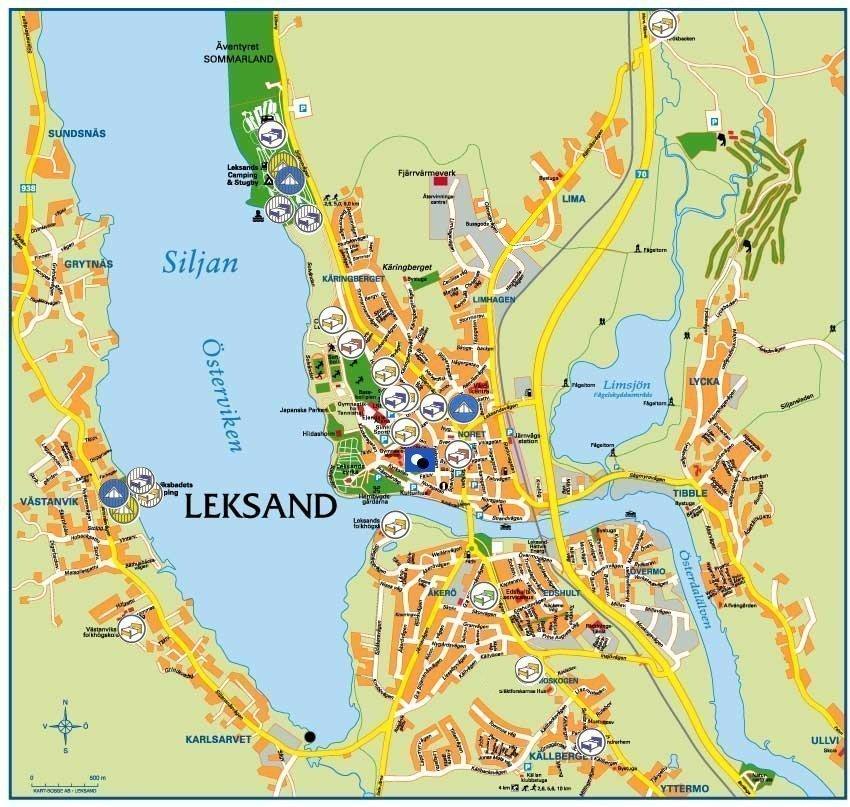 leksand karta EGC2008   Accommodation map leksand karta