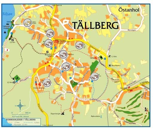 tällberg karta EGC2008   Tällberg accommodation map tällberg karta